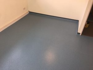 Blue safety flooring