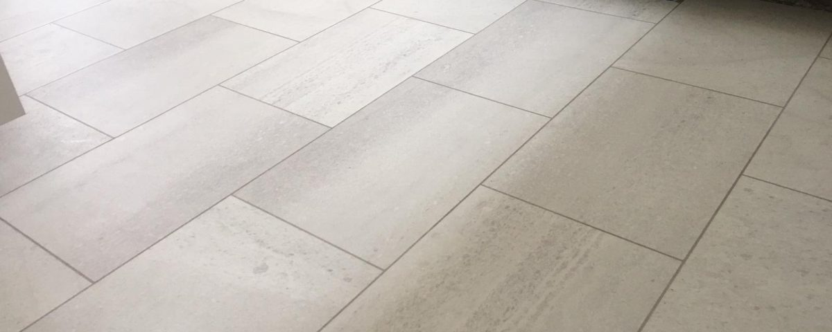 The New Karndean Knight Tile Honed Oyster Slate Installed On Screed