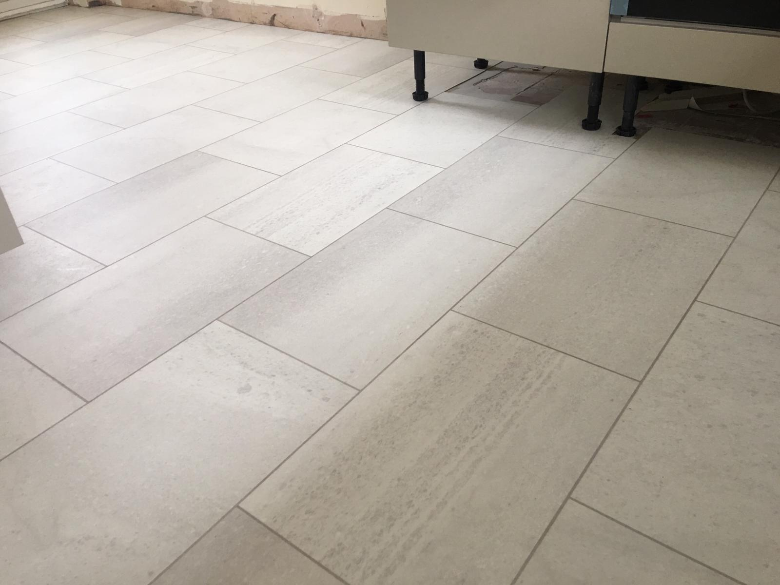 The New Karndean Knight Tile Honed Oyster Slate Installed